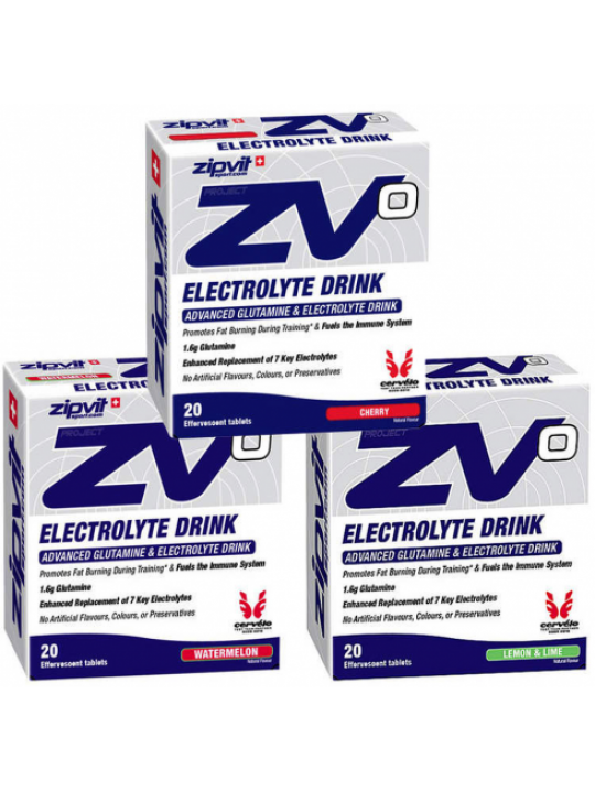 ELECTROLYTES TABLETS ZIP VIT LIMAO 20X4.5G